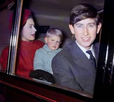 Queen Elizabeth ii, Prince Edward and Prince Charles