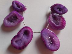 Natural Purple color Druzy cave Beads by Gemstonebeadsfinding