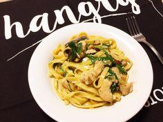 Creamy Chicken Pasta, Mushroom Chicken, Little Kitchen, Eve, Spaghetti, Stuffed Mushrooms, Ethnic Recipes, Instagram, Food