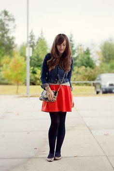 Girl and Closet: Look Book: A Pop Of Orange