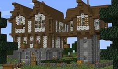 Birch Estate House [Survival] Minecraft Project