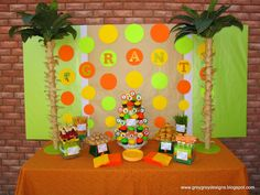 I haven't ever posted on here but am on here all the time. I was just wondering if anyone is doing a safari theme or jungle theme for your babies 1st birthday. Does anyone have any ideas of what to do? I saw a post on here awhile ago with some blogs of others ideas of what they have done with this theme. There were some really cute ideas with pictures with all the details. Does anyone know of any blogs with this theme? Or any other cute ideas for a boy? Thanks!  - Page 2