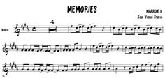 The best transcription of the song memories - Maroon 5 / Violin cover -music sheet with backing track to play along in any instrument in C. Maroon 5, Violin Sheet Music, Drew Scott, Backing Tracks, Christina Perri, John Mayer, Diana Ross, Transcription, Darren Criss