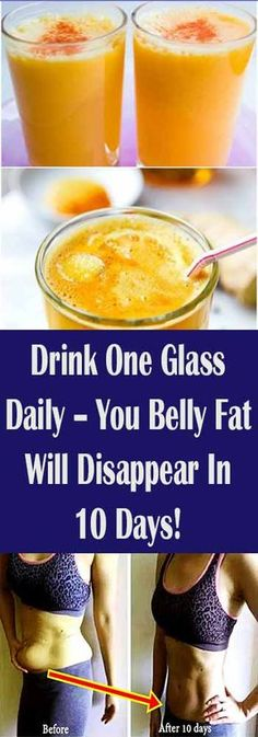 Drink One Glass Daily – You Belly Fat Will Disappear In 10 Days! #fitness #beauty #hair #workout #health #diy #skin #Pore #skincare #skintags #skintagremover #facemask #DIY #workout #womenproblems #haircare #teethcare #homerecipe