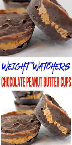 Weight Watchers Desserts – BEST WW Recipe – Peanut Butter Chocolate Cups - Dessert - Treat – Snack with Smart Points Easy! Healthy snacks & great dessert after Weight Watchers meals. Low Calorie Desserts, Ww Desserts, No Calorie Foods, Great Desserts, Low Calorie Recipes, Healthy Low Calorie Snacks, Dinner Healthy, Low Calorie Easy Meals, Diabetic Dessert Recipes