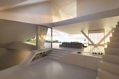 Villa F With Impressive Futuristic Architecture   DigsDigs