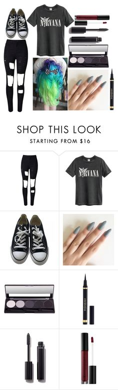 """""""Amber: April 21, 2016"""" by disneyfreaks39 ❤ liked on Polyvore featuring WithChic, Converse, Yves Saint Laurent, Chanel and Anastasia Beverly Hills"""