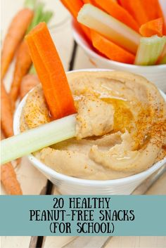 20 Healthy Peanut-Free Snacks (for School). These are awesome ideas for school lunches!   healthy kids snacks   peanut-free snacks
