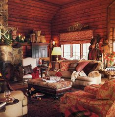 Nice 47 Stunning Home Interior Cabin Style Design Ideas You Must See. Cabin Interior Design, Interior Design Pictures, Home Design, Design Ideas, Interior Ideas, Cabin Homes, Log Homes, Living Room New York, Log Home Decorating