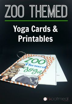 Super fun zoo yoga cards and printables too!  I love how much fun it is to have a zoo theme with yoga!