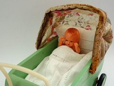 Your place to buy and sell all things handmade Boutique Vintage, Vintage Shops, Rock A Bye Baby, Design Floral, Baby Carriage, Canopy, 1930s, Childhood, Antiques