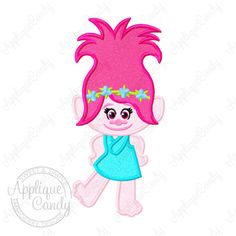 Trolls Poppy Applique 2 Machine Embroidery by AppCandyEmbroidery