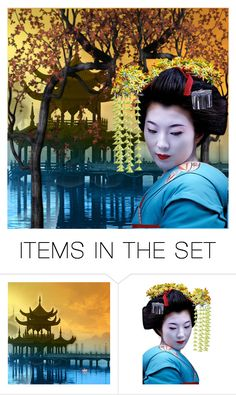 """When in Japan"" by mirmin ❤ liked on Polyvore featuring art"