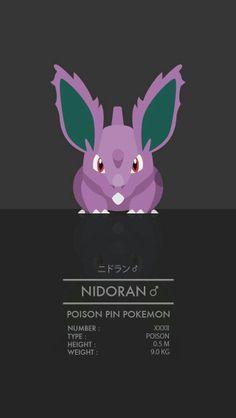 Nidoran, male, stats, text; Pokemon