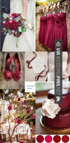 So neat! - Wedding Colour Schemes 2015 - Cranberry, Wine  Ivory Wedding Color Inspiration - Love the color, but maybe more of a Winter wedding look. | CHECK OUT SOME AMAZING PHOTOS OF GREAT Wedding Colour Schemes 2015 HERE AT WEDDINGPINS.NET | #weddingcolourschemes2015 #weddingcolourschemes #weddingcolours #weddingcolors #boda #weddings #weddinginvitations #vows #tradition #nontraditional #events #forweddings #iloveweddings #romance #beauty #planners #fashion #weddingphotos #