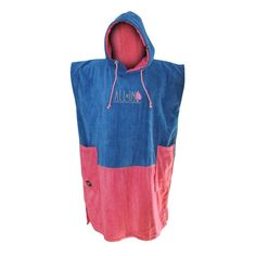 Poncho All In Bumpy - Blue / Pink