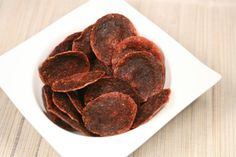 Salami Chips. The easy Low Carb snack that you can make in two minutes flat!