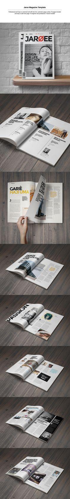 Magazine page layouts