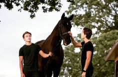"Harrison Osterfield and Tom Holland ""We are both allergic to horses...and I think the horse found that quite funny"""