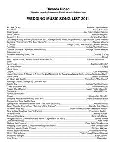 Wedding Music Song Ideas