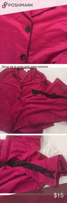 Oscar de la rents pink label pajamas never worn Oscar de la rents pink label pajamas never worn Oscar de la Renta Intimates & Sleepwear Pajamas