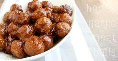 Slow Cooker or Instant Pot Honey Garlic Meatballs Recipe - 6 Weight Watchers Points Recipes - Fabulessly Frugal Garlic Meatball Recipe, Frozen Meatball Recipes, Sin Gluten, Healthy Crockpot Recipes, Cooking Recipes, Delicious Recipes, Beef Recipes, Quinoa, Slow Cooker