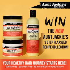 Win the NEW Aunt Jackie's 3 Step Flaxzeed Recipe Collection!