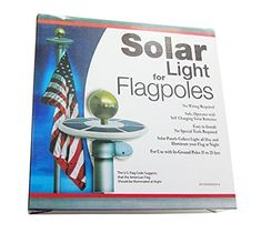 Jeronic Solar Flag Pole Light Generation Brightest, Most Powerful, Longest Lasting & Most Flag Coverage with State-of-Art Technology, LED Downlight Lights up Flag on Most 15 to 25 Ft Flagpole for Night illumination, 6 Solar Panel Solar Panel Technology, Art And Technology, Flagpole Lighting, Solar Led Lights, Solar Charger, Most Powerful, Downlights, Solar Panels, Light Up
