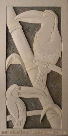 cuadro tucanes tallado en madera cuadro tucanes tallado en madera mdf de 12mm  densidad 600 tallado a mano,talla