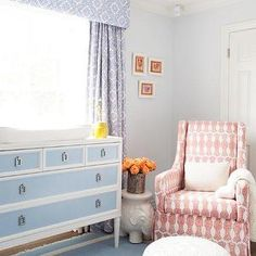 Kishani Perera - nurseries - Benjamin Moore - First Snowfall - blue walls, nursery paint, nursery paint colors, blue nursery, blue nurseries...
