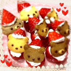 Strawberry bear santa