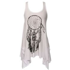 Lauren Moshi White Dream Catcher Swing Pocket Tank A firm favourite with Young Hollywood - these limited edition hand drawn masterpieces are the ultim... http://www.comparestoreprices.co.uk/clothing/lauren-moshi-white-dream-catcher-swing-pocket-tank.asp