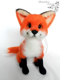 Felting Fox Azalia. Лисичка Азалия from Needle Felting Toys RU by DaWanda.com