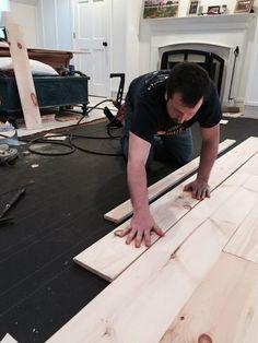 diy unfinished wide pine floors, diy, flooring, hardwood floors, woodworking projects