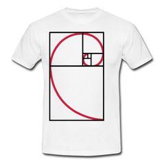 Fibonacci Kurve goldener Schnitt für Graphik Artist, Illustratoren, Mathematiker und mehrT-Shirts.