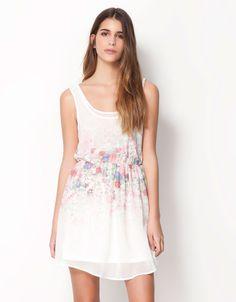$599 Bershka México - Vestido Bershka estampado floral