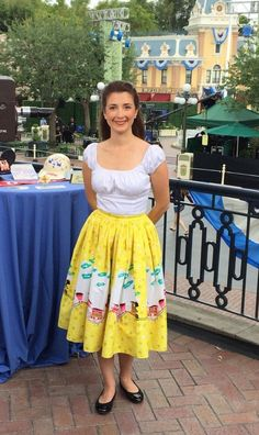 Behind the scenes at a Disneyland video shoot. Disneyland Opening Day, Dapper Day Disneyland, Midi Skirt, Change, Summer Dresses, Celebrities, Skirts, Unique, Fashion