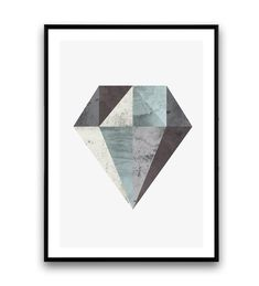 Blue and gray diamond print, minimalist artwork, abstract posterDimensions available: Dimensions x x x 210 x 297 mm x 297 x 420 mm x 40 x 50 cm X cm cm If you are interested into any size that is not available, please contact us. Minimalist Artwork, Minimalist Poster, Geometric Poster, Geometric Shapes, Watercolor Texture, Watercolor Art, Art Pariétal, Art Minimaliste, Minimal Art