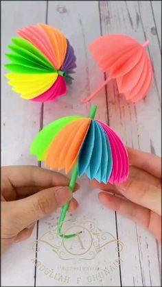 Paper Flowers Craft, Paper Crafts Origami, Paper Crafts For Kids, Flower Crafts, Preschool Crafts, Paper Crafting, Diy Crafts Hacks, Diy Crafts For Gifts, Creative Crafts