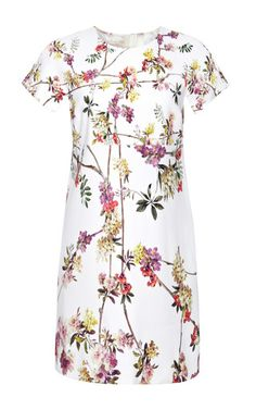 Floral-Print Stretch Crepe-Jersey Dress by Giambattista Valli for Preorder on Moda Operandi
