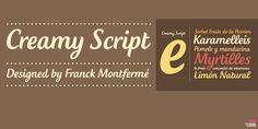 Creamy Script - Webfont & Desktop font « MyFonts