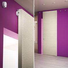 Made in Italy sliding doors Pivato: new spaces in freedom Shoji Doors, Bathroom Gadgets, Door Detail, Small Closets, Modern Door, Door Accessories, Bathroom Doors, Clever Design, Interior Door