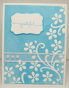 card made by inking an embossing folder