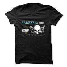 BARRERA RULE NUMBER 1 2017 DESIGN T Shirts, Hoodie Sweatshirts