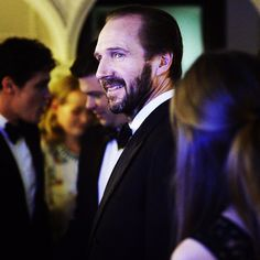 """""""You know who it is... (sorry) #HarryPotter star Ralph Fiennes backstage at the #eebaftas. #bafta #baftas2015"""""""