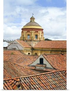 Poster Print Wall Art Print entitled Tile rooftops in Bogota, Colombia Beautiful Places To Visit, Places To See, Places Ive Been, Latin Travel, Colombia South America, Equador, The Beautiful Country, Largest Countries, Central America