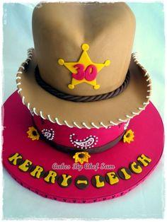 Cow Girl Hat Birthday Cake