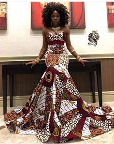 African print tube mermaid dress made with high quality fabric Latest African Fashion Dresses, African Inspired Fashion, African Dresses For Women, African Print Fashion, African Women, Ankara Fashion, African Prints, Africa Fashion, African Fabric