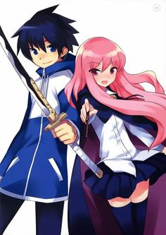 Saito and Louise from The Familiar of Zero!
