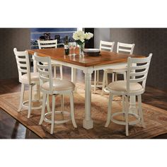 Acme Furniture Wilton 7 Piece Rectangular Counter Height Dining Table Set - ACM1026